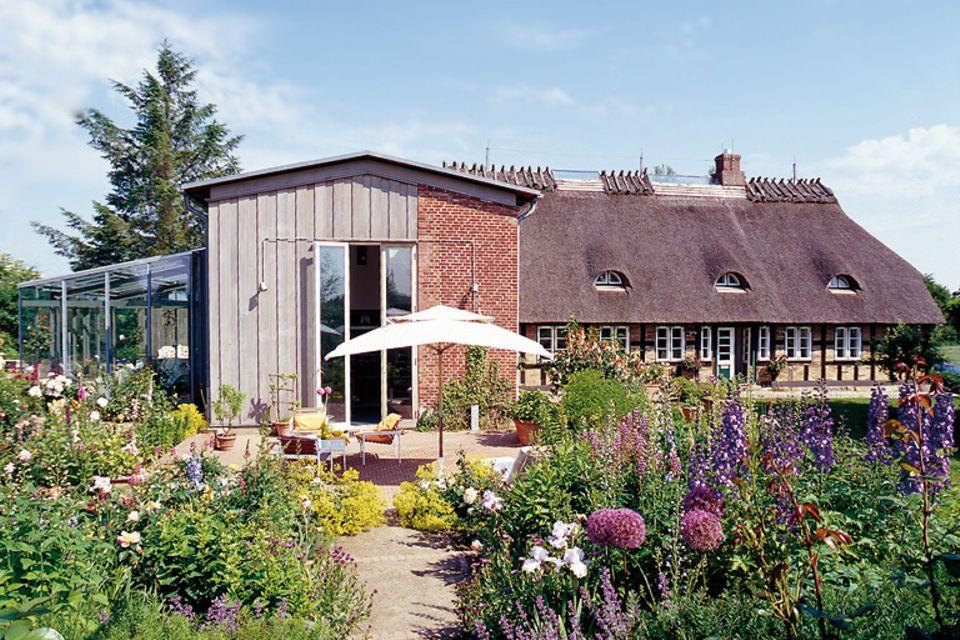 Wochenendhaus mit Reetdach