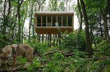 Zum Mieten: Im Baumhaus schlafen und dabei Wölfe beobachten