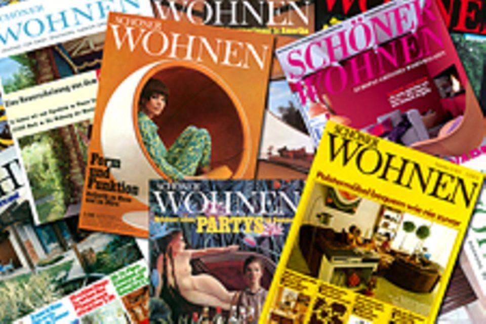 50 Jahre SCHÖNER WOHNEN: SCHÖNER WOHNEN-Hefttitel 1960 bis heute