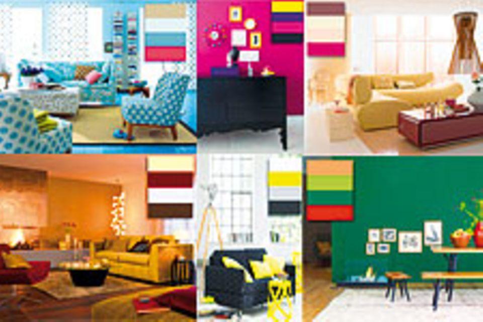 Wohnen mit Farbe: 6 Stile - 6 Farbwelten