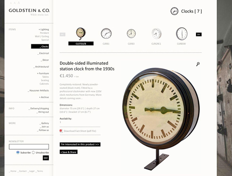"""""""Goldstein & Co"""": Industriedesign vom Feinsten"""