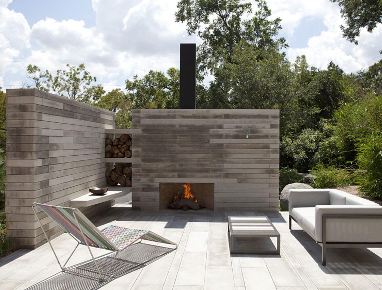 Außergewöhnliche Feuerstelle Kamin für die Terrasse   Bild 20 ...