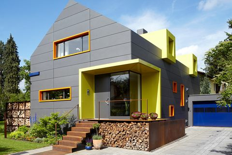 Hinterlüftete Fassade beim Einfamilienhaus
