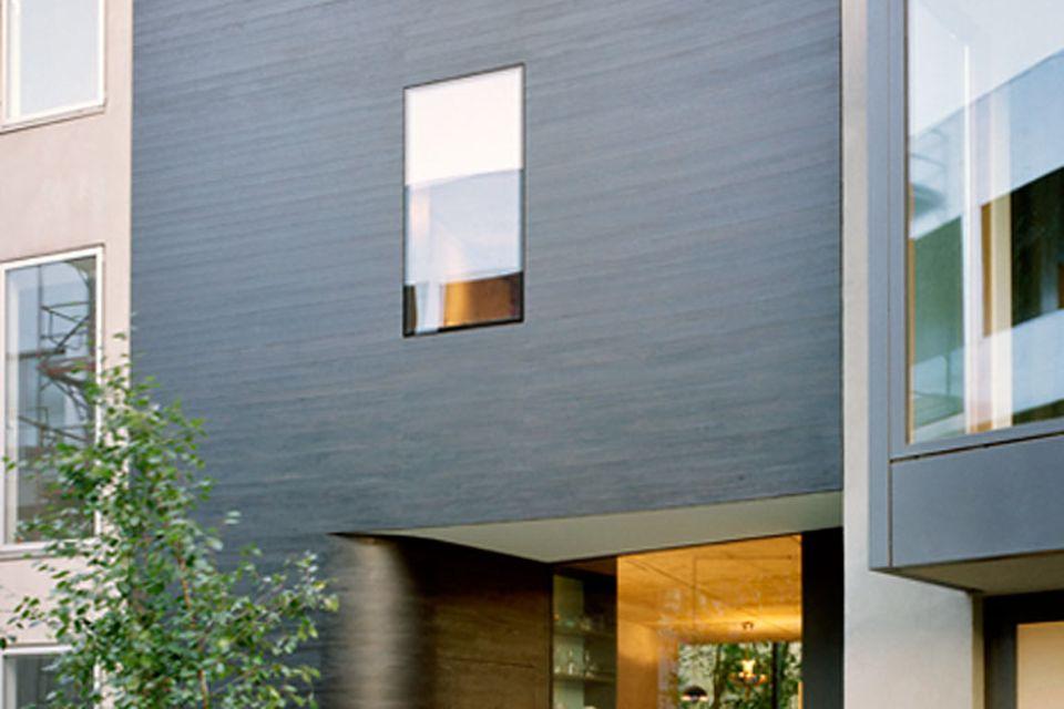Architektenhäuser: Reihenhaus in Trapezform