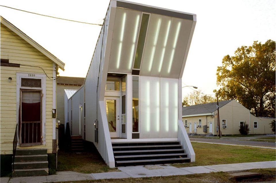 Architektenhäuser: Schmales Haus im Shotgun-Stil