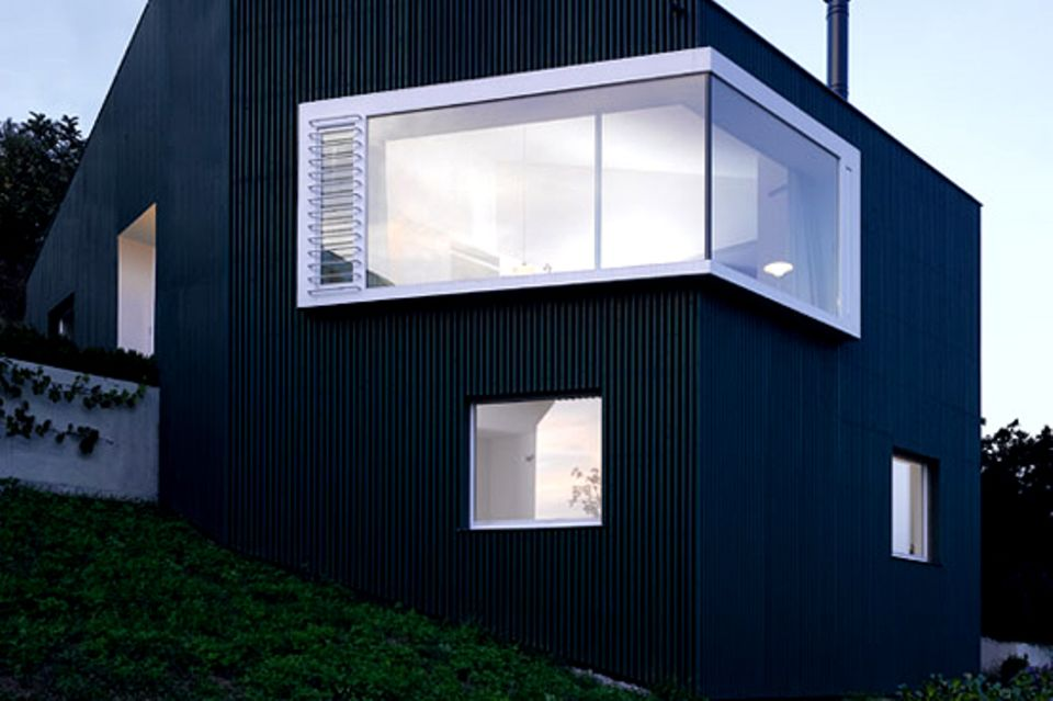 Single-Haus mit asymmetrischem Dach