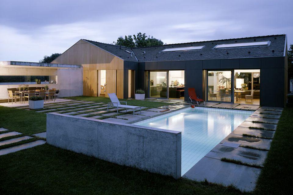 Ein Einfamilienhaus modern umgebaut