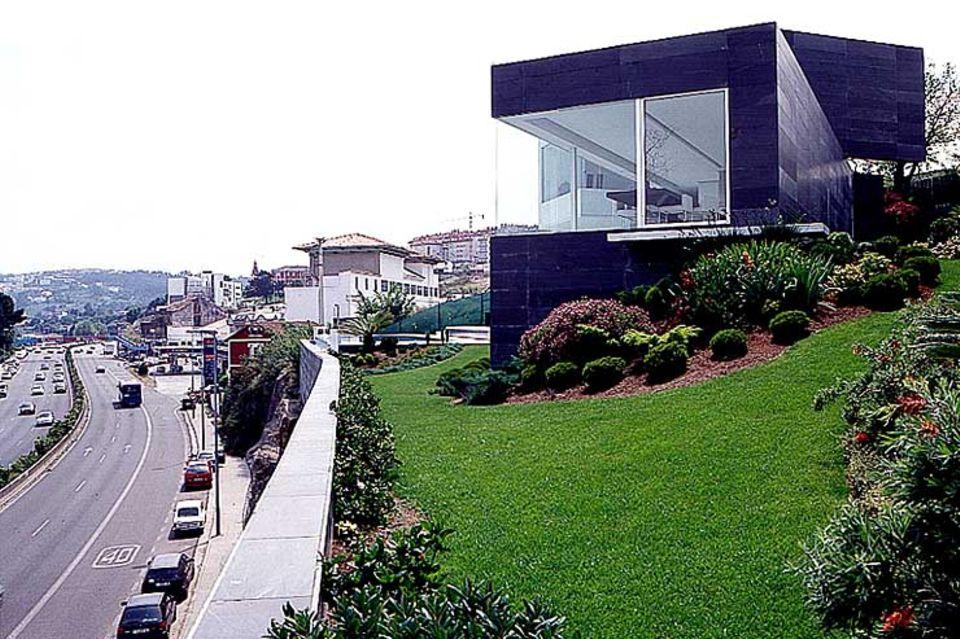 Wohnkubus mit Panoramafenstern