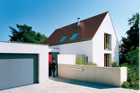 Klar gegliedertes Einfamilienhaus