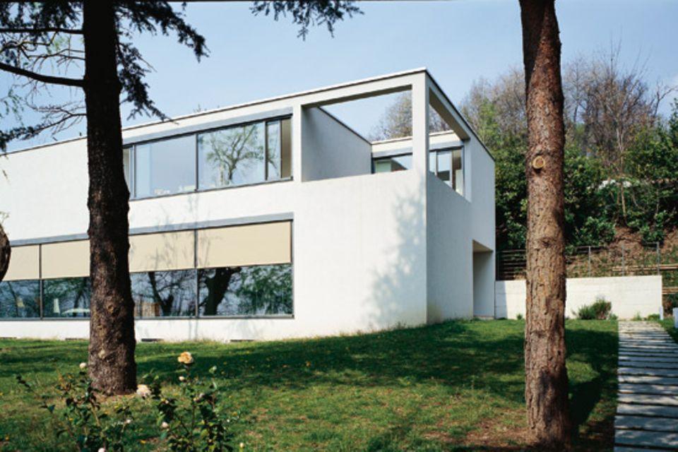 Einfamilienhaus mit geometrischen Formen