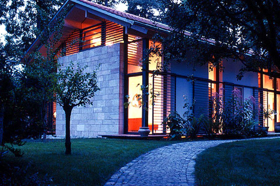 Niedrig-Energiehaus mit Strahlungswärme