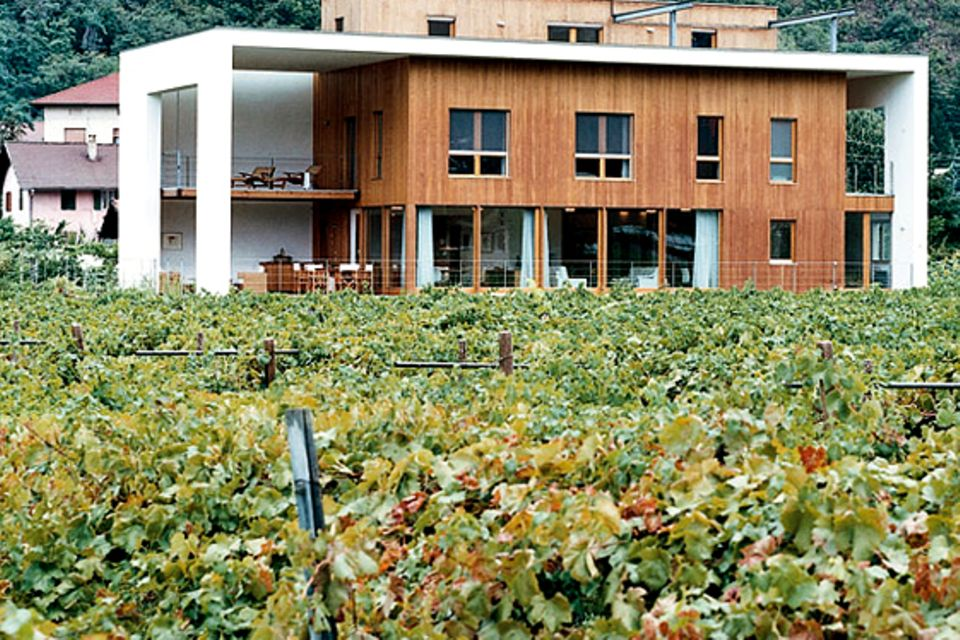 Haus aus umweltfreundlichen Materialien