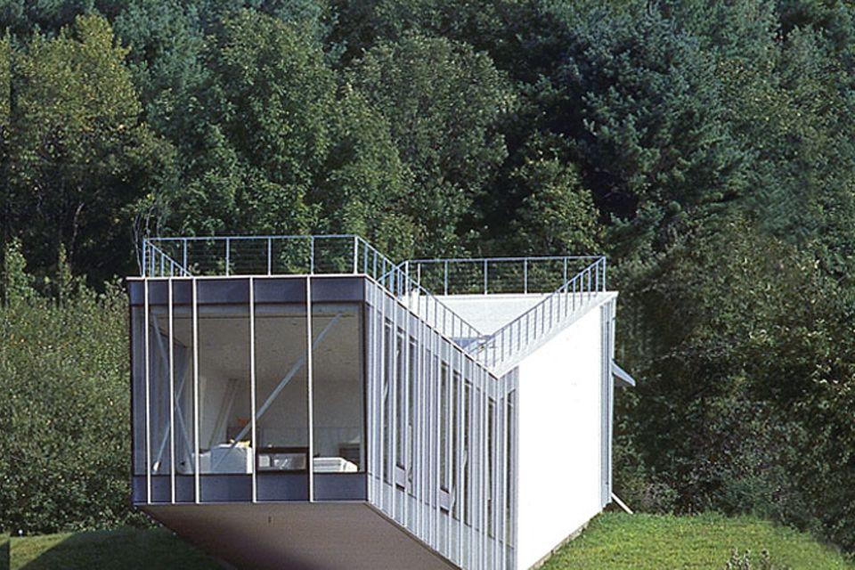 Ferienhäuser: Wochenendhaus aus Glas und Aluminium