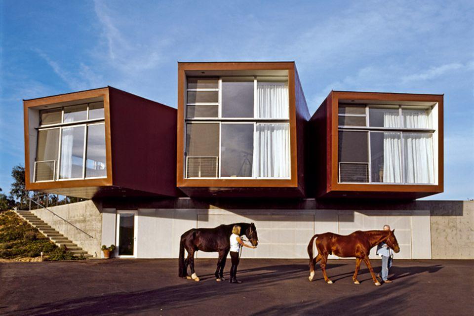 Architektenhäuser: Panoramahaus aus Vierkantröhren