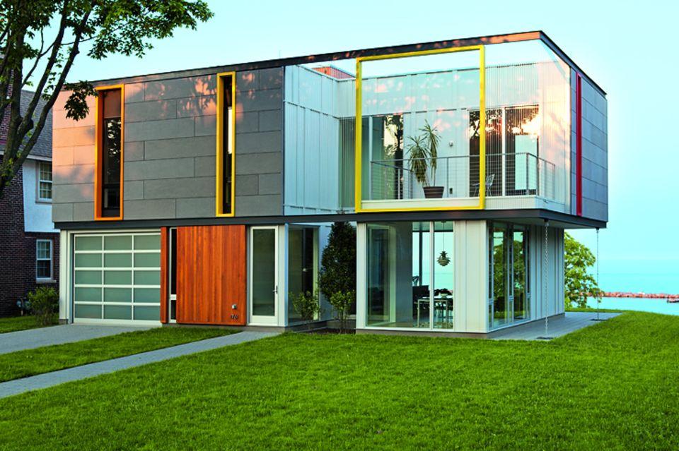 Architektenhäuser: Energiesparhaus am Michigan-See
