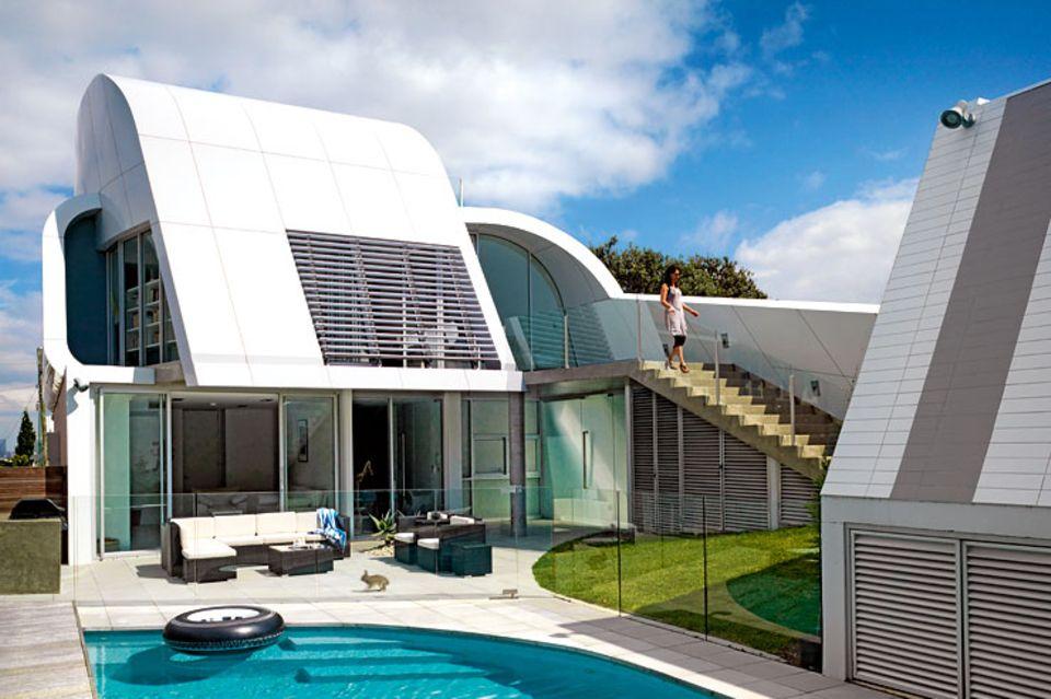 Architektenhäuser: Innovative Villa mit Aluminiumfassade