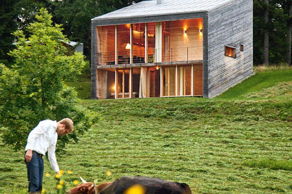 Architektenhäuser: Modernes Ferienhaus aus Holz