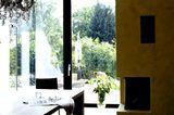 Esszimmer mit Panoramafenstern