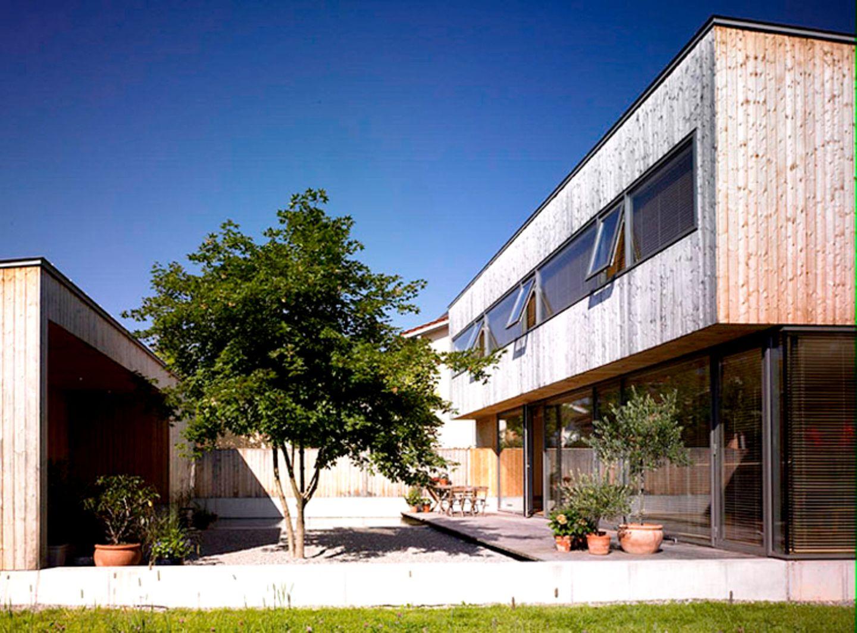 Fassade aus Fichtenholz