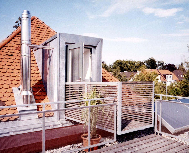 Dachterrasse auf dem Anbau