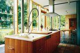 Küchenblock mit breiter Spüle