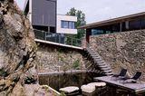 Terrasse am Koi-Teich