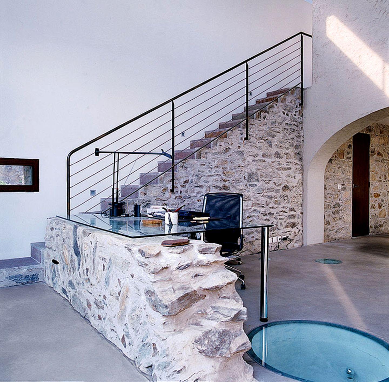 Treppe auf der ehemaligen Staumauer