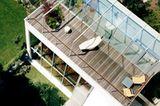 Großzügige Dachterrasse im Hinterhof