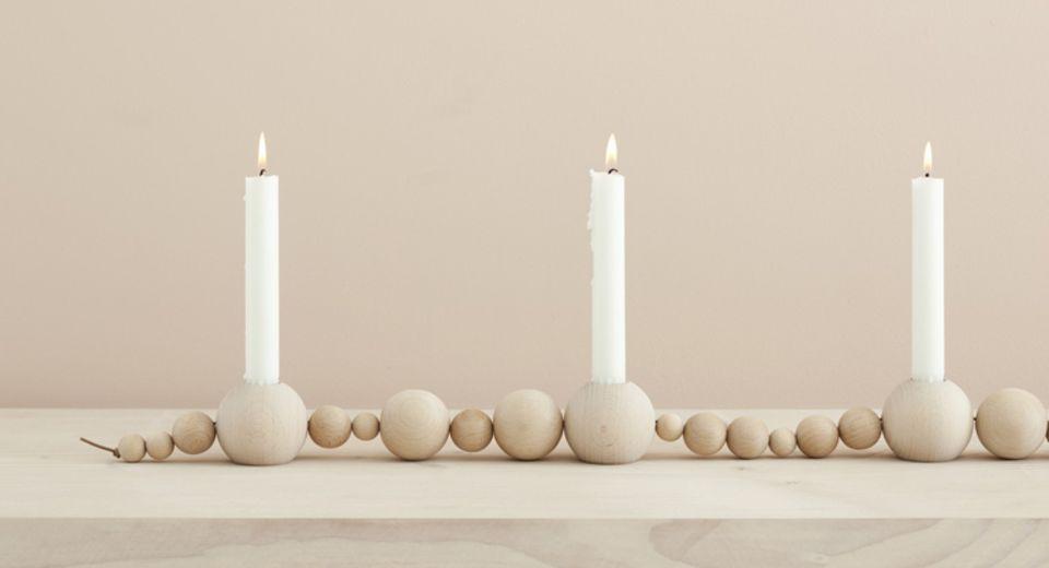 """Kerzenleuchter """"String - Nature"""" von Ferm Living"""