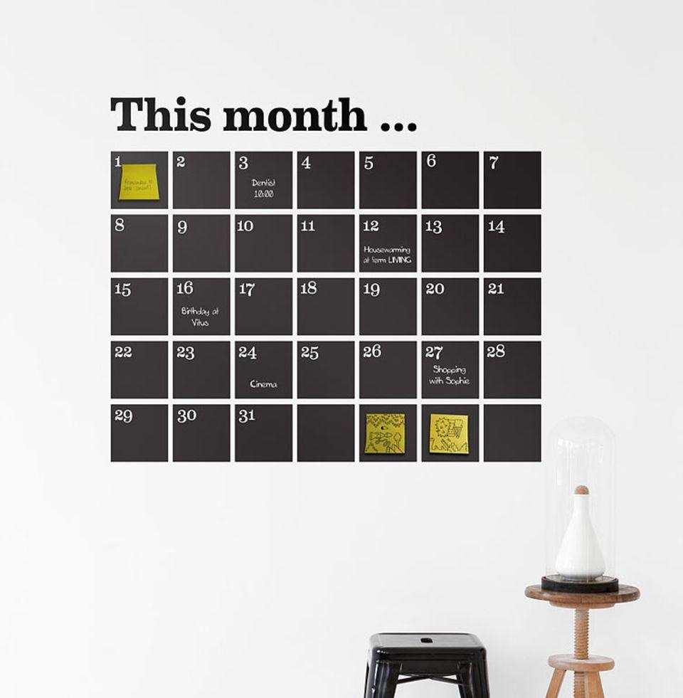 """Ewiger Kalender als Wandtattoo: """"Calendar"""" von Ferm Living"""