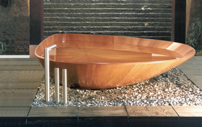 """Holzbadewanne """"Ocean Shell"""" von Bagno Sasso"""