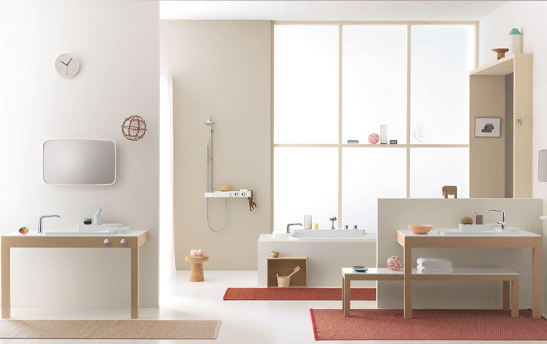 Badezimmereinrichtung nach dem Baukastenprinzip