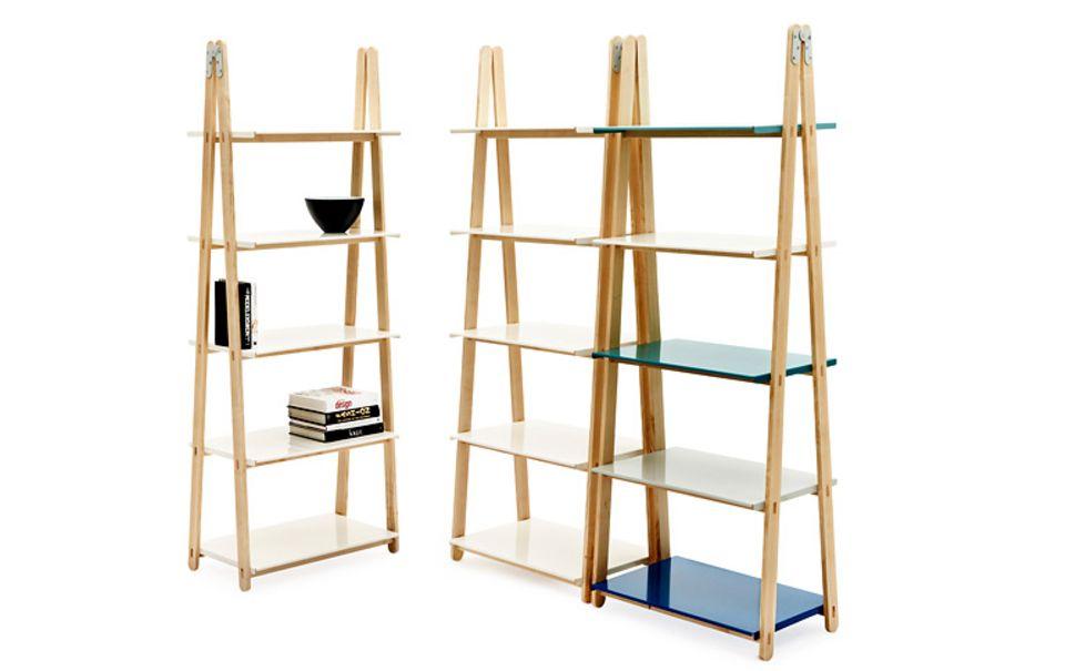 Regal in der Anmutung einer Leiter
