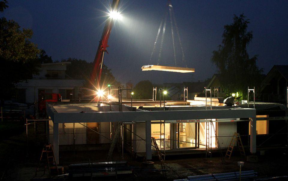 Baustelle bei Nacht