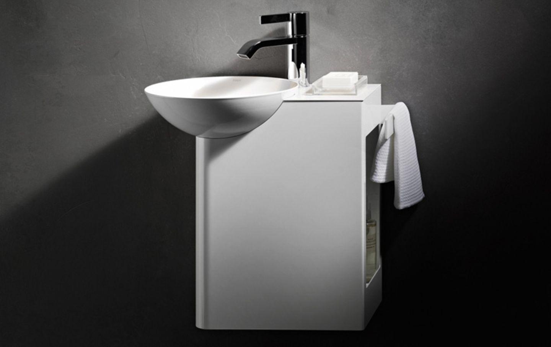 """Waschbecken fürs kleine Bad: """"Insert Storage"""" von Alape"""