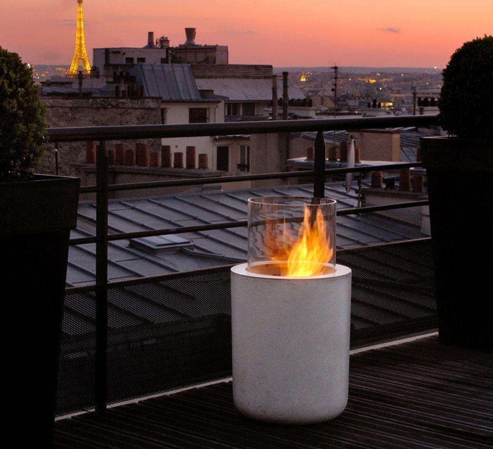Lagerfeuer-Romantik für den Balkon