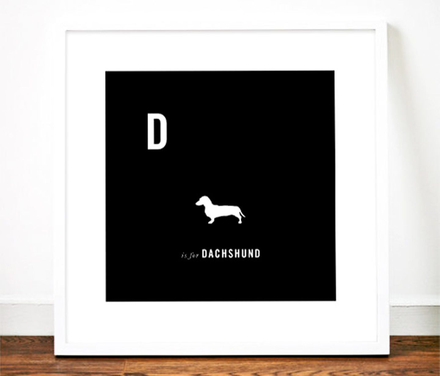 """Hunde-Alphabet: """"D is for Dachshund"""" von Weavers of Southsea"""