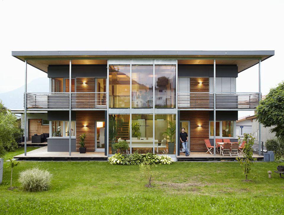 Fassade aus Lärchenholz
