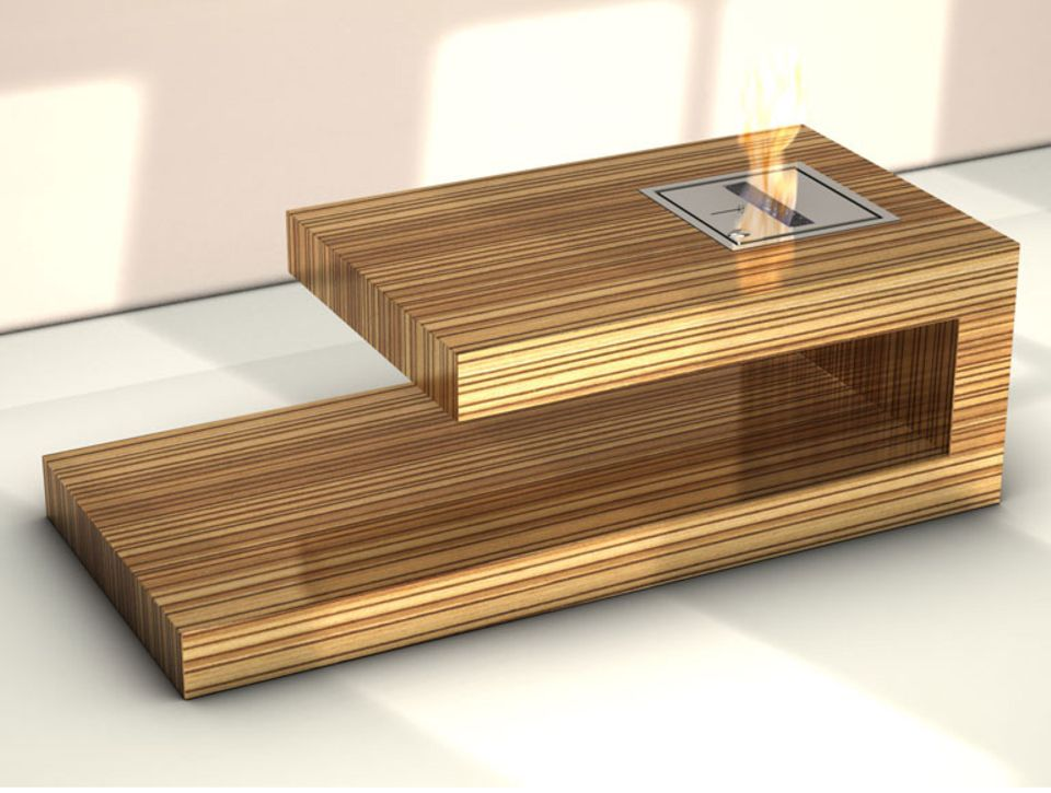 """Kamin-Tisch """"Fire-coffee-table"""" von Berlin Rodeo"""