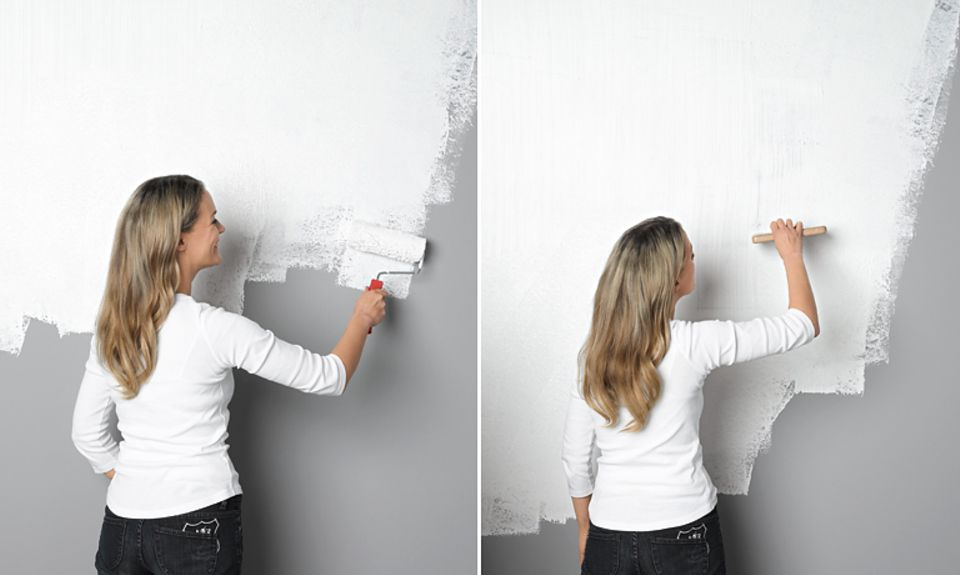 "Wandgestaltung in ""Kamm-Optik"""