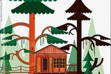 """Baumhäuser mit Top-Architektur: """"Tree Houses"""" von Philip Jodido"""