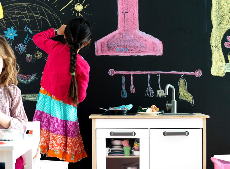 Tafellack für die Wand im Kinderzimmer
