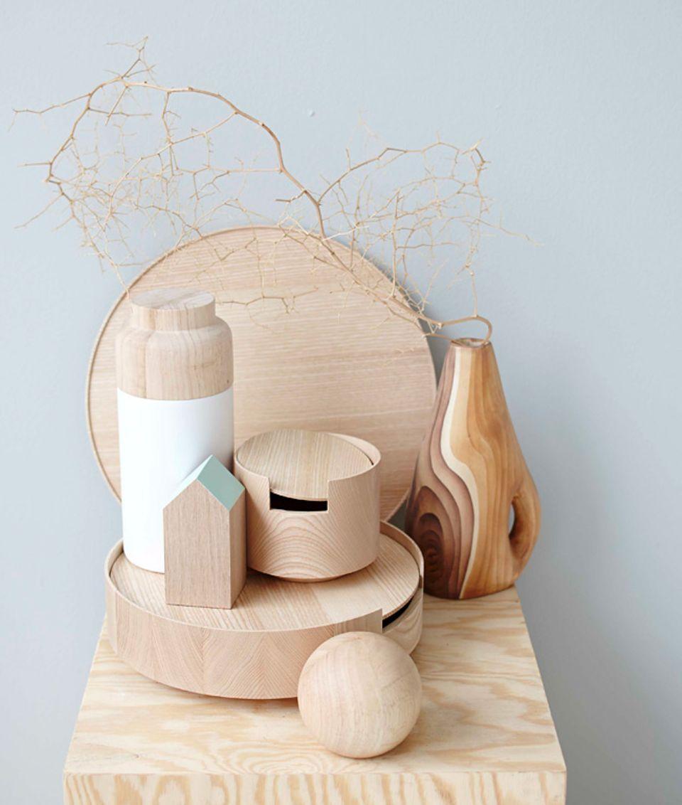 Mit hellem Holz einrichten