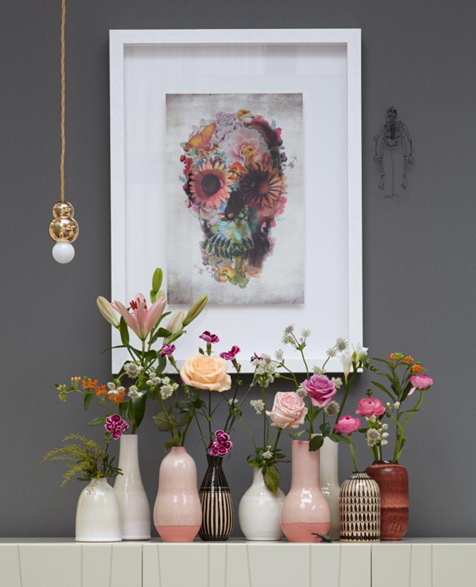 Mit Blumenmuster einrichten