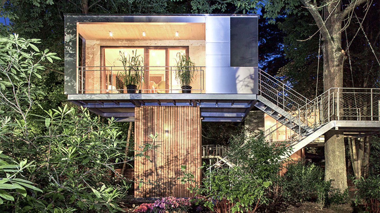 """Zwischen Wald und Stadt: Das """"Urban Tree House"""" in Berlin"""