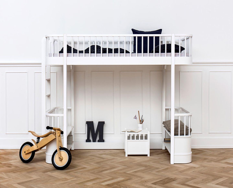 Kindermöbel für jede Lebenslage: Dieses Hochbett kommt vom dänischen Hersteller Oliver Furniture.