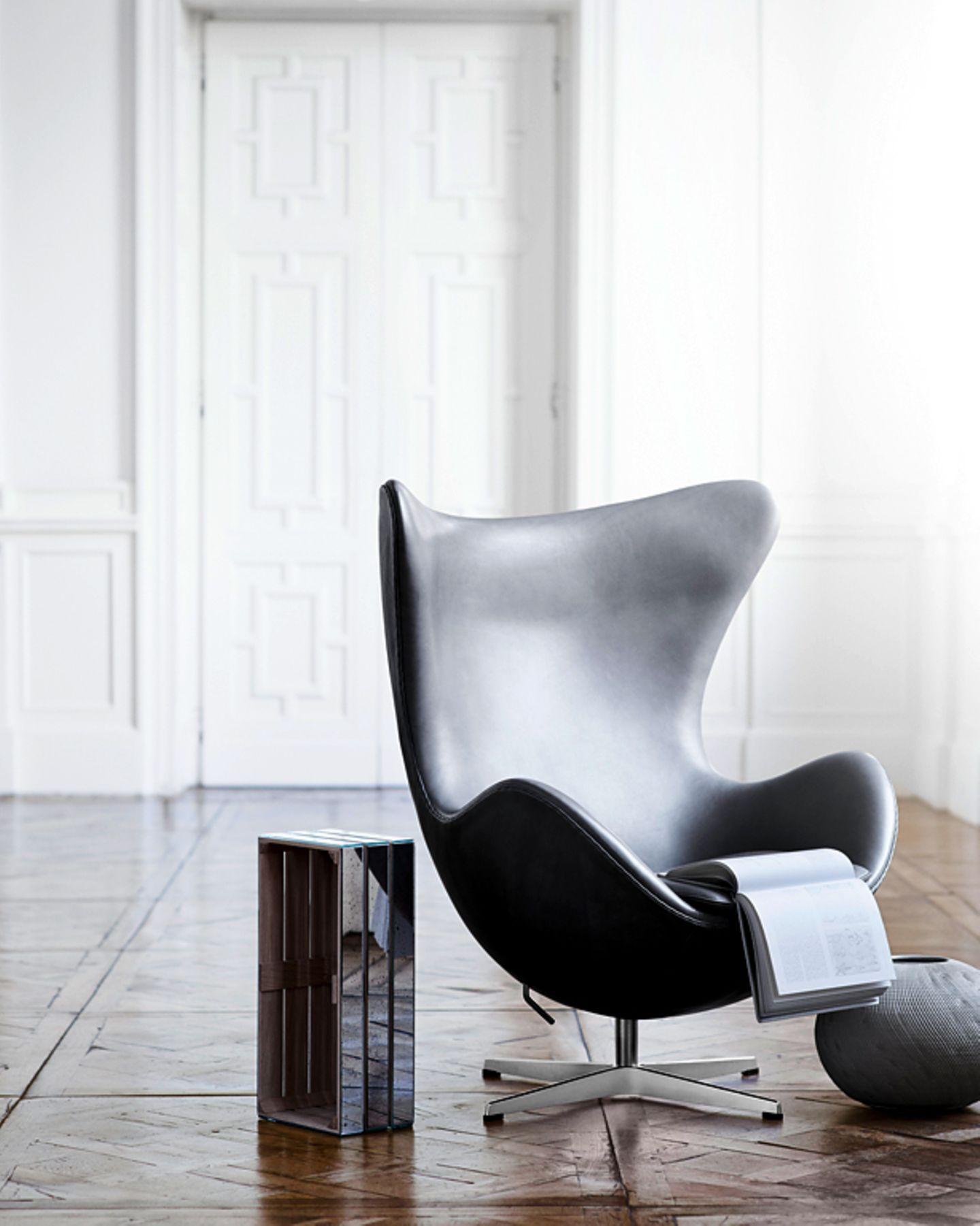 """Der """"Egg Chair"""" als edles Einzelstück"""