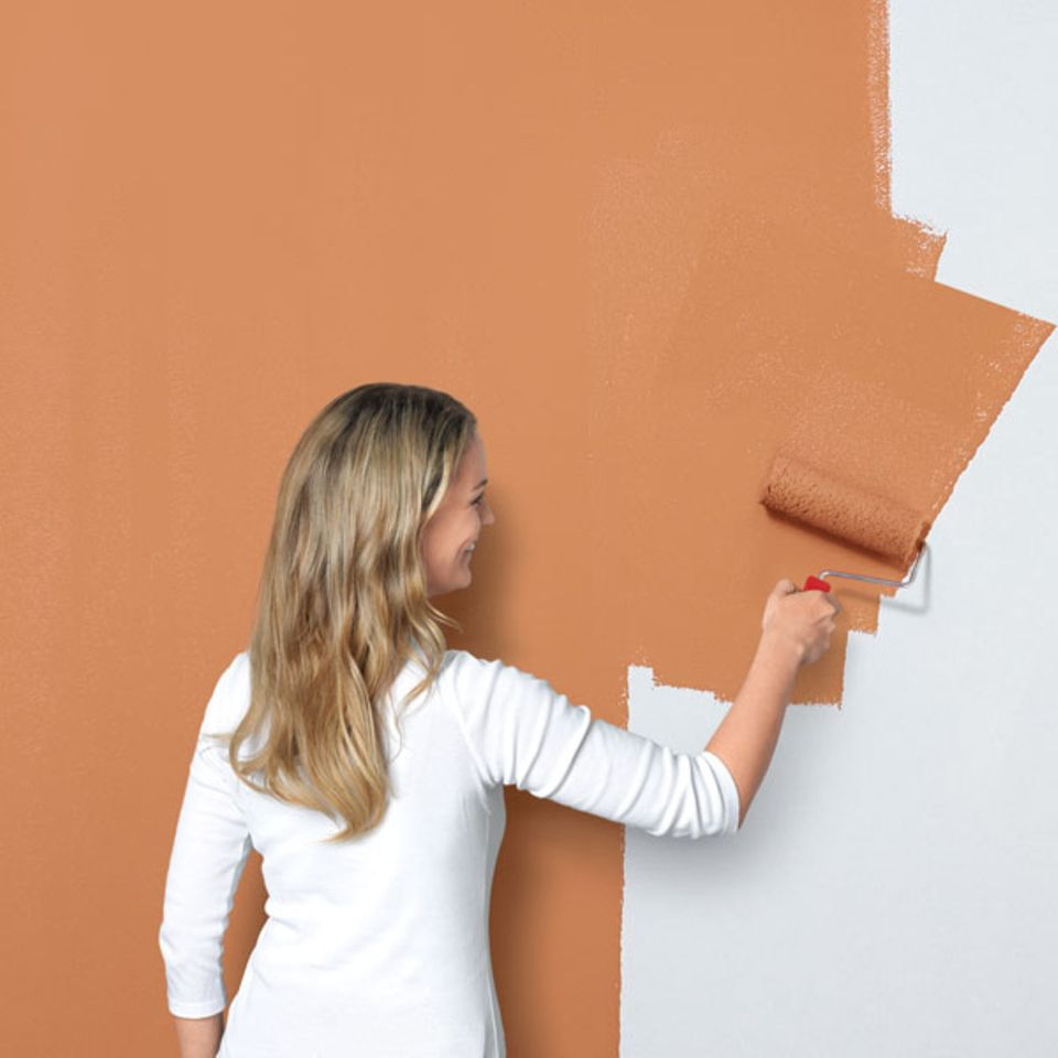 "Wandgestaltung in ""Rost-Optik"""