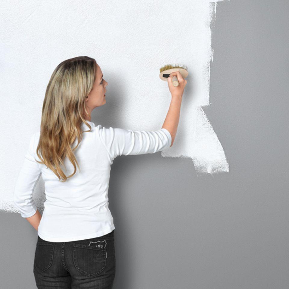 """Wandgestaltung in """"Feinputz-Optik"""""""