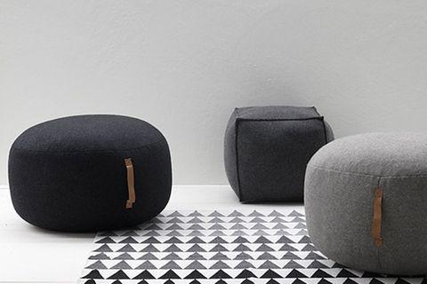 Griffig: Bodenkissen aus Baumwolle von Hübsch Interior